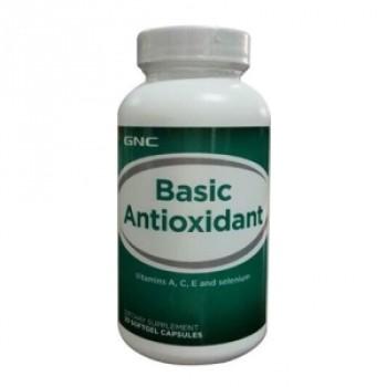 Antioxidant de baza cu vitamina A,C,E si seleniu (30 capsule), GNC