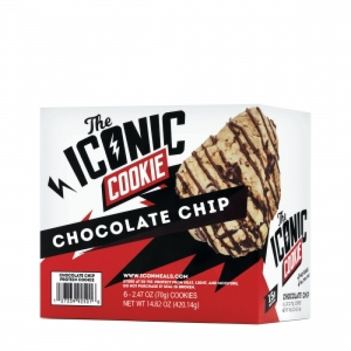 THE ICONIC COOKIE Baton proteic cu aroma de ciocolata tripla (70 grame), GNC