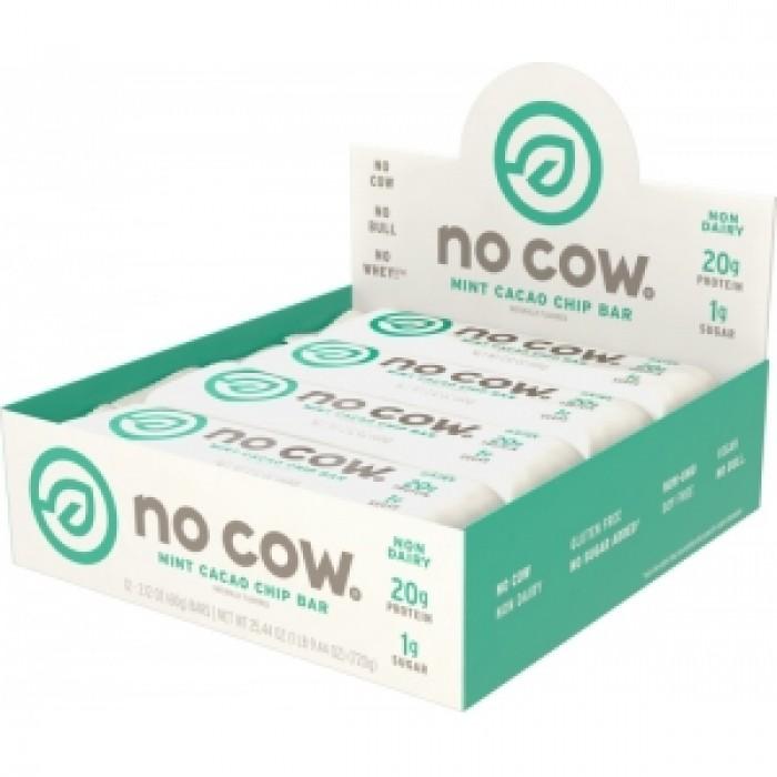 NO COW Baton proteic cu aroma de ciocolata si menta (60 grame), GNC