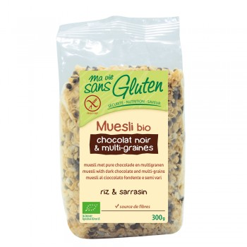 Musli multicereale cu ciocolata neagra - fara gluten (300g), Ma vie sans gluten
