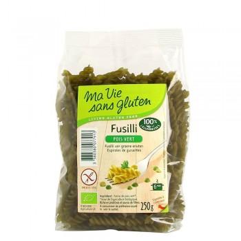 Fusilli bio mazare verde - fara gluten (250g), Ma vie sans gluten