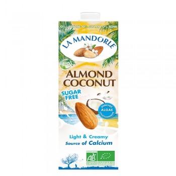 Lapte de migdale cu cocos fara zahar (1L), La Mandorle