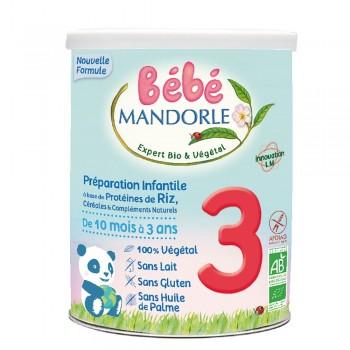Formula 3 Cereale + proteine vegetale pentru bebelusi - de la 10 luni (800g), Bebe Mandorle