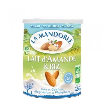 Lapte praf de migdale cu orez (400g), La Mandorle