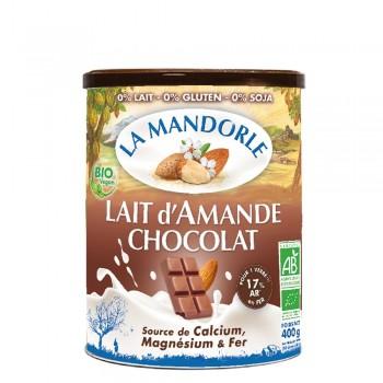 Lapte praf de migdale cu ciocolata (400g), La Mandorle