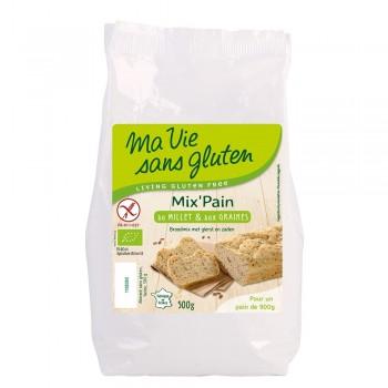 Amestec pentru paine cu mei - fara gluten (500g), Ma vie sans gluten