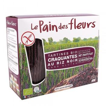 Turte crocante din orez negru -fara gluten (150g), Le Pain Des Fleurs
