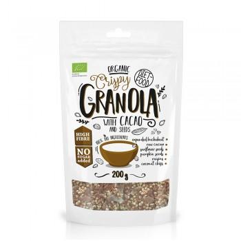 Granola bio cu cacao (200g), Diet-Food