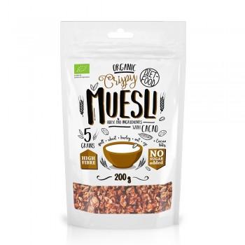 Musli bio cu cacao nibs (200g), Diet-Food