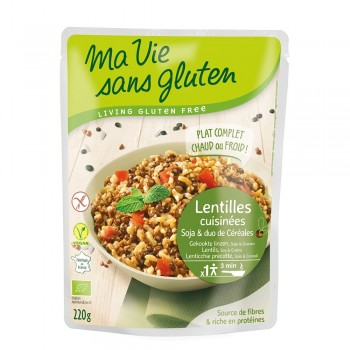 Cereale si leguminoase - fara gluten gata preparat (220g), Ma vie sans gluten