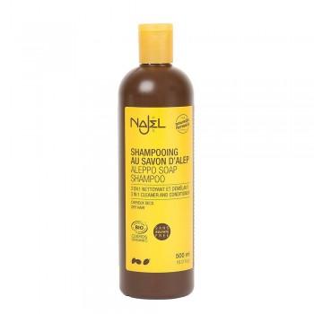 Sampon bio 2 in 1 cu sapun de Alep pentru par uscat (500ml), Najel