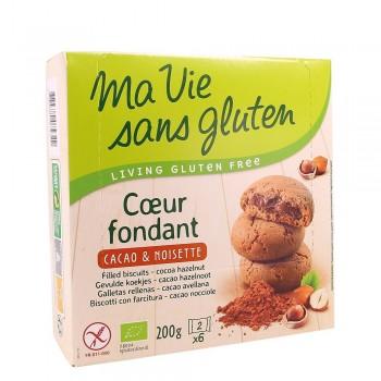 Biscuiti fara gluten cu crema de cacao si alune (200g), Ma vie sans gluten