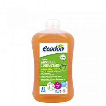 Detergent bio vase ultradegresant cu otet si limeta (500ml), Ecodoo