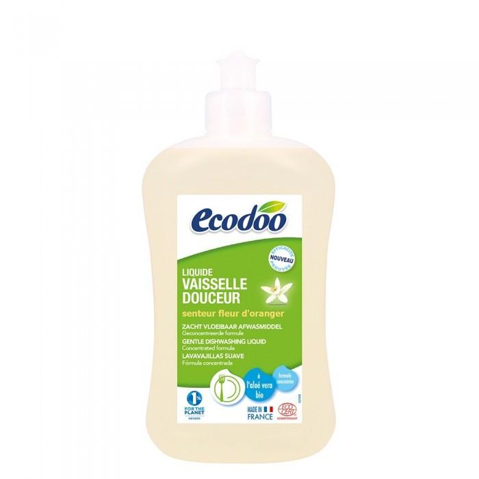 Detergent bio vase cu aloe vera si flori de portocal (500ml), Ecodoo