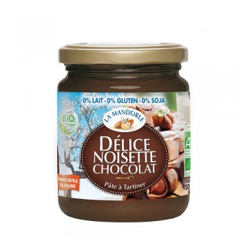 Crema de ciocolata si alune fara gluten, lactoza, soia (300g), La Mandorle