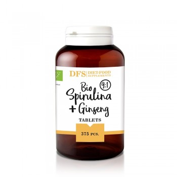 Bio Spirulina + ginseng - 375 tablete bio x 400mg - (150g), Diet-Food