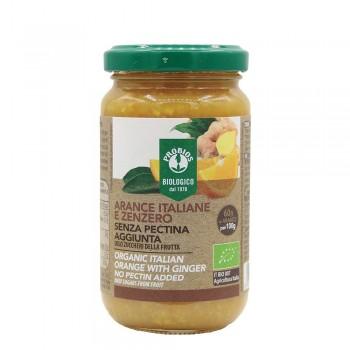 Gem de portocale si ghimbir fara zahar, fara pectina (220g), Probios