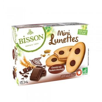 Biscuiti Mini ochelari cu ciocolata (175g), Bisson