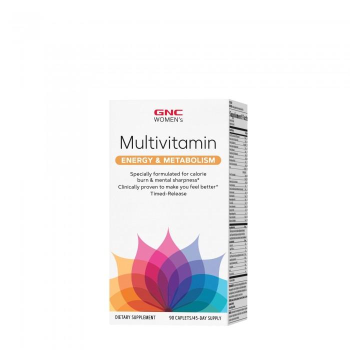 Women's Ultra Mega Energy & Metabolism Complex de multivitamine pentru femei (90 tablete), GNC