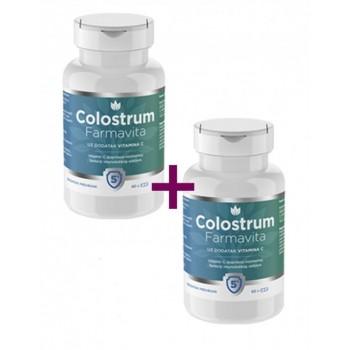 Pachet Colostrum 1000 mg (60 cps), Farmavita 2 FLACOANE