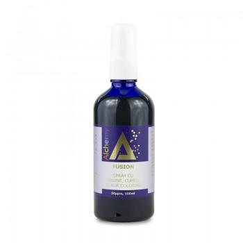 Fusion Lotiune pentru ingrijirea pielii, spray cu argint, cupru si aur coloidal 50ppm (100 ml), Pure Alchemy