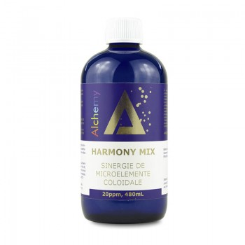 Harmony Mix Sinergie de argint, magneziu si cupru coloidal 20ppm (480 ml), Pure Alchemy