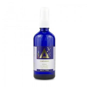 Nuclear Lotiune pentru ingrijirea pielii, spray cu argint coloidal 80ppm (100 ml), Pure Alchemy