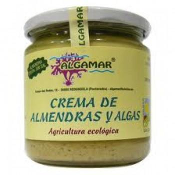 Unt raw de migdale cu alge marine bio (320g), Algamar