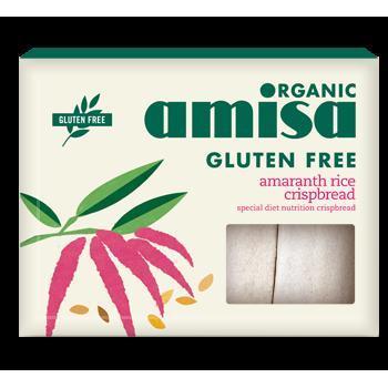 Crispbread (painici) din orez si amaranth fara gluten bio (120 grame), Amisa