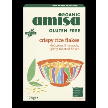 Fulgi de orez crispy fara gluten bio (175 grame), Amisa
