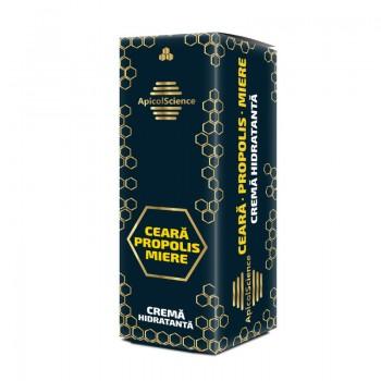 Crema hidratanta cu ceara, propolis si miere (50 ml), ApicolScience