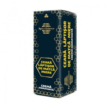 Crema hidratanta cu laptisor de matca, ceara si miere (50 ml), ApicolScience