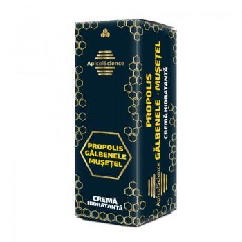 Crema hidratanta cu propolis, galbenele si musetel (50 ml), ApicolScience