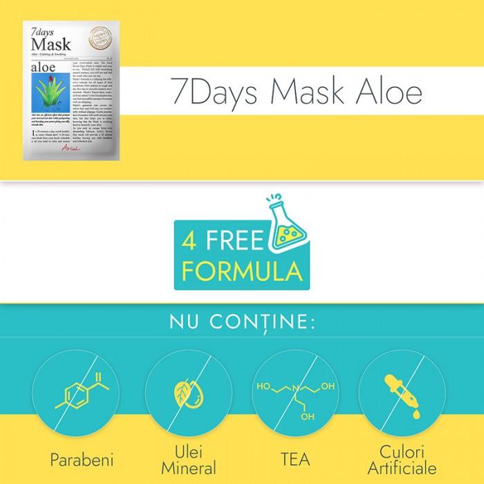 Masca servetel 7Days Aloe Vera - calmare si improspatare (20 grame), Ariul