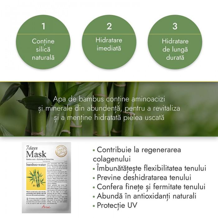 Masca servetel 7Days Apa de Bambus - hidratare si catifelare (20 grame), Ariul