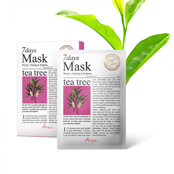 Masca servetel 7Days Arbore de Ceai - curatare si purificare (20 grame), Ariul