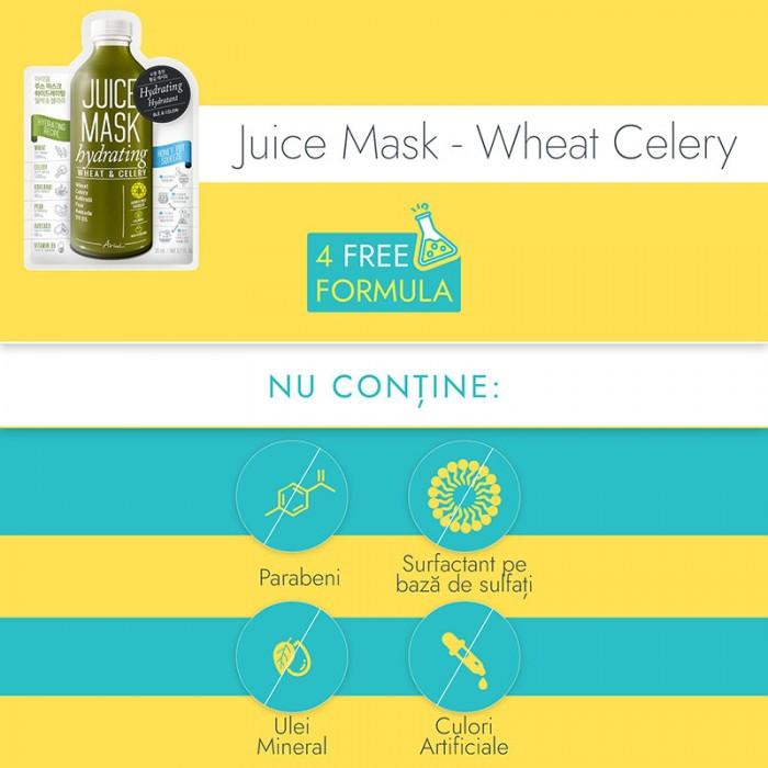 Masca servetel Juice Grau si Telina - hidratare, hranire si echilibrare (20 grame), Ariul