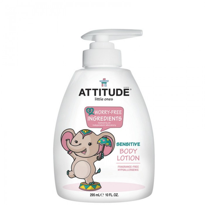 Lotiune de corp, pentru bebelusi, fara miros (300 ml), Attitude