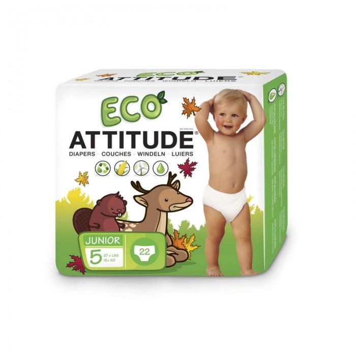 Scutece ecologice de unica folosinta marime 5 (12kg) (22 bucati), Attitude