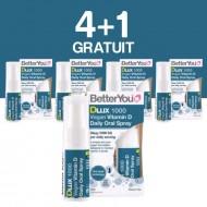 DLux 1000 Vegan Vitamin D Oral Spray (15ml), BetterYou 4+1 Gratuit