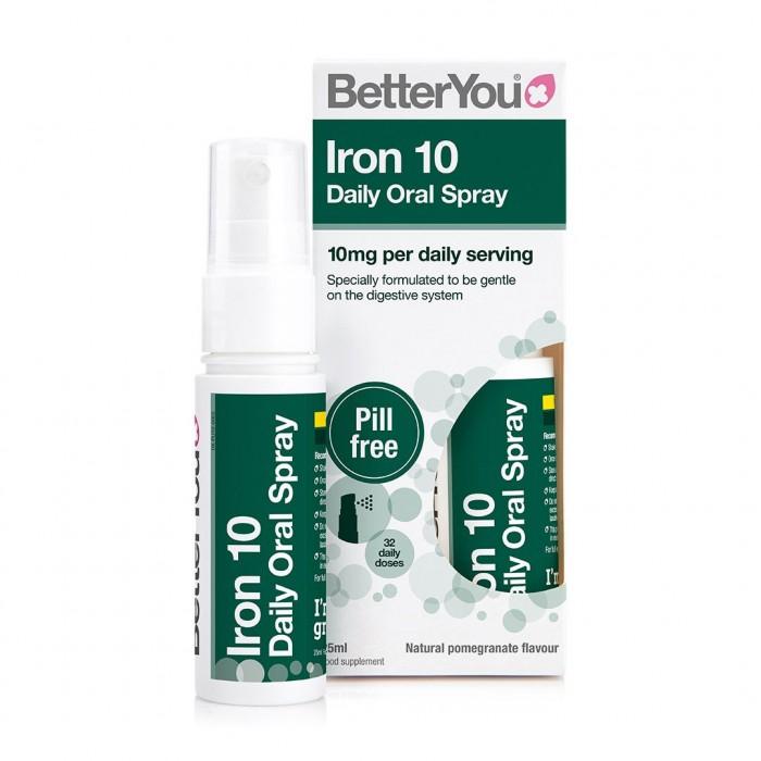 Iron 10 Oral Spray (25ml), BetterYou