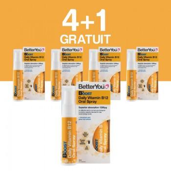 Boost B12 Oral Spray (25ml), BetterYou 4+1 Gratuit