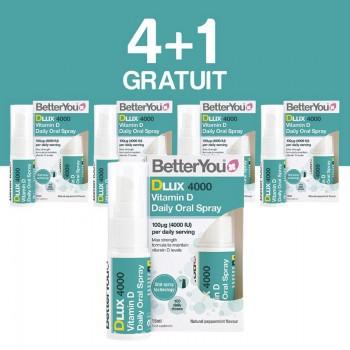 DLux 4000 Vitamin D Oral Spray (15 ml), BetterYou 4+1 Gratuit