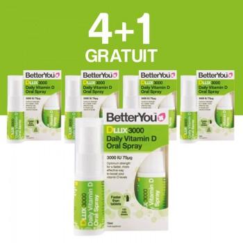 DLux 3000 Vitamin D Oral Spray (15ml), BetterYou 4+1 Gratuit