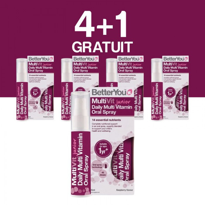 Multivit Junior Oral Spray (25ml), BetterYou 4+1 Gratuit