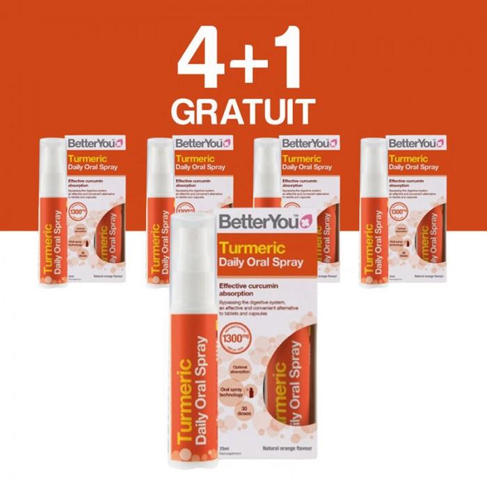 Turmeric Oral Spray (25ml), BetterYou 4+1 Gratuit