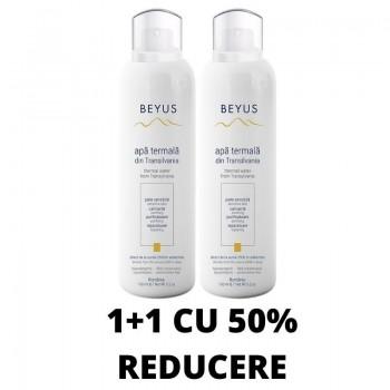 Promo 1+1 cu 50% REDUCERE Beyus - Apă termală din Transilvania (2 x 150ml), Beyus