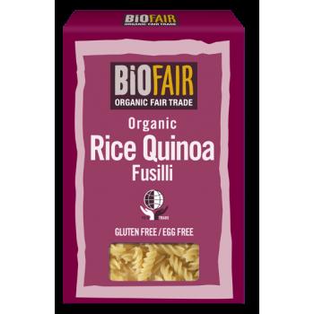 Fusilli din orez si quinoa fara gluten bio (250 grame), Biofair
