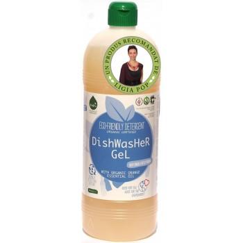 Gel pentru spalat vase ecologic, pentru masina de spalat vase (1 litru), Biolu