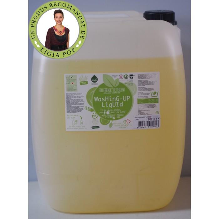Detergent ecologic vrac pentru spalat vase (20 litru), Biolu